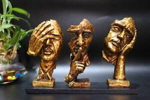 Creative Abstract Decor Statue Face & Hand Statues and Sculptures Office Decor