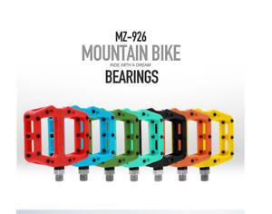 "2PCS 9/16""Road Mountain Bike Pedals Flat Aluminum Sealed Bearing For MTB BMX NEW"