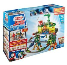 Train Set Thomas & Friends Super Station Railway Playset Holds Over 100 Engines