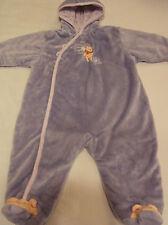 Winnie Pooh Soft Velvet Lavender Snowsuit Hood Bunting Baby Girl 6/9 mo 18-20 lb