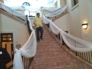 """Wedding decoration Ivory Panels Voile 57"""" wide x the length you need"""