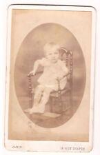 CDV CARTE PHOTO médaillon portrait bébé chaise- JAMIN rue Chapon - Paris