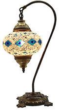 Turkish Moroccan Mosaic Table Bedside Tiffany Swan Night Lamp Light Lampshade