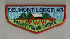 OA Delmont Lodge 43  S10b flap Valley Forge Council PA