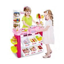 Kids Dessert Ice Cream Grocery Shop Toy Playset With Register & Scanner