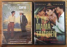 Lot of 2 Alfonso & Carlos Cuaron Ex Rental Dvds Rudy y Cursi Y Tu Mama Tambien