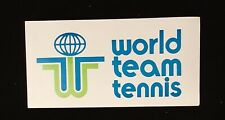 World Team Tennis Bumper Sticker