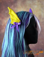 Cosplay Dragon Wing Hair Clips - Purple and Yellow