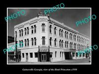 OLD LARGE HISTORIC PHOTO OF GAINESVILLE GEORGIA, VIEW OF HOTEL PRINCETON c1950