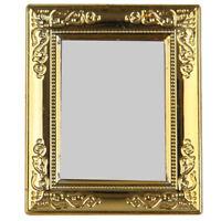 1/12 Puppenhaus Goldenen Rahmen Spiegel X5J2 R1P8