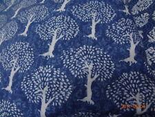 2.5 yards Indigo Dye sanganei cotton fabric hand block printed Dabu Print fabric