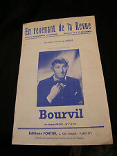 Partition En revenant de la revue Bourvil Music Sheet