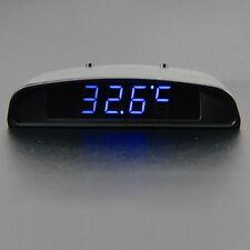 12V LED alarme horloge électronique voiture voltmètre thermomètre calendrier Hot