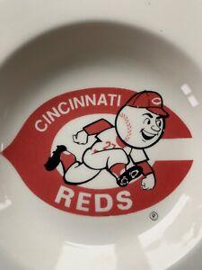 Vintage Cincinnati Reds Baseball Porcelain Ashtray MLB  Cigarette Memorabilia