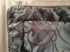 3 Euro Pillow Shams Blue Brown Scroll Design King Queen Bedroom Jcpenney Home