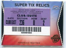 2005 Topps Super Tix 8 Jeremiah Trotter Super Bowl Ticket Stub