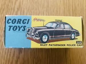 Corgi 209 Riley Pathfinder Police Car Original Box Only.