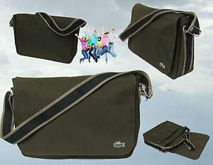 New Authentic Vintage Lacoste MESSENGER BAG Casual 2.8 Khaki