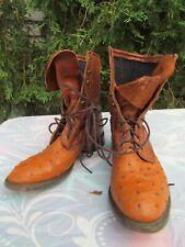 Ostrich Lacer/Packer Boots Size 9.5 D Durango, Real Ostrich Guys!