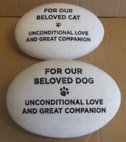 RSPCA GRAVESIDE MEMORIAL PEBBLE FOR DOG / CAT REMEMBER YOUR LOVED PET