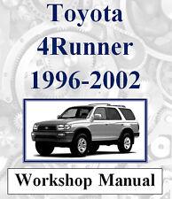 TOYOTA 4RUNNER 4 RUNNER HILUX 1996-2002 WORKSHOP MANUAL DIGITAL DOWNLOAD