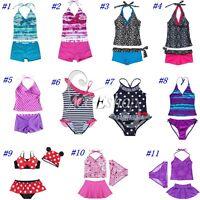 Halter Girls Beach Pool Swimwear Swimsuits Swimming Costume Bikini Tankini Suits