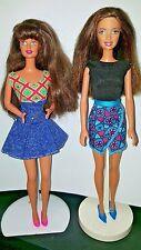 Barbie Lot of 2 Teresa Brunette Latina Dolls Fully Dressed