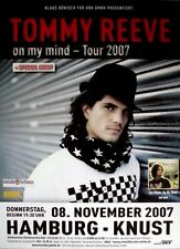Reeve, Tommy - 2007-manifesto concerto-In concert-On My Mind-TOUR POSTER-HH