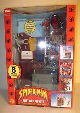 """2002 Marvel Spiderman MISB 6"""" Spider-Man Figure Alleyway Playset ToyBiz"""