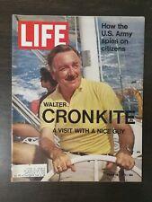 Life Magazine Mach 26, 1971 - Walter Cronkite - US Spies on Citizens - Tchepone