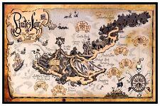 "PIRATE'S LAIR ON TOM SAWYER'S ISLAND - DISNEY POSTER  - 12"" x 18"""