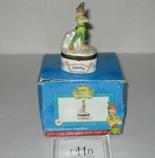 Disney Peter Pan Porcelain Hinged Trinket Box Midwest Cannon Falls Classic Vtg
