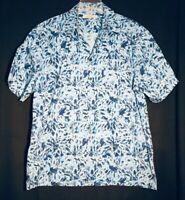 VTG The Original BEN SHERMAN Blue On Blue S/S Buttons Men Casual Shirt XL Rare
