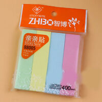 400Pages Sticker Bookmark Marker Memo Flags Portable Sticky Notes Office Supply