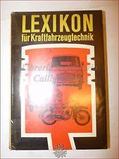 Meccanica DIZIONARIO Automobili - LEXIKON Kraftfahrzeugtechnik 1966 VEB Tedesco