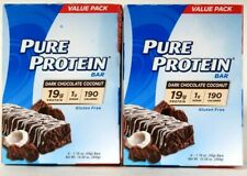 2 Boxes Pure Protein 10.58 Oz Dark Chocolate Coconut 6 Count 19g Protein Bar