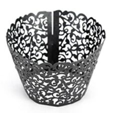 50pcs Cupcake Wrappers Filigree Vine Lace Cup Wrap Liners Wedding Nov#hxxb