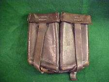 OLD LEATHER MAGAZINE CLIP MARKED H. ROGGE BERLIN 1958 FOR GERMAN MAUSER
