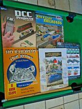 5 BOOKLETS MODEL RAILROADER & ATLAS N & HO SCALE DCC PROJECTS, LAYOUTS RAILROAD