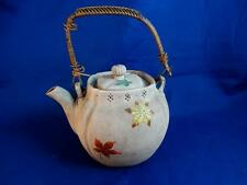 19th C Meiji Period Japanese Banko Pottery Enamelled Teapot ~ Signed