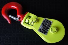 "Snatch Block 2 Ton 3"" w Hook for 3/8"" Wire Rope Cable Roll Back Wrecker Recovery"