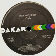 """12"""" Eiite DAKAR 101 Rock the House Parts 1 and 2 Mint-"""