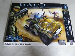 HALO Mega Bloks 96818 UNSC Gremlin with Figures, Weapons + Instructions + extras