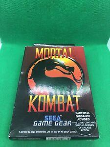 Mortal Kombat Sega Game Gear Cib #0022