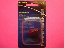 "CALTERM ILLUMINATED ROCKER TOGGLE SWITCH 30 AMP 12V RED OVAL ON OFF 1/2"" HOLE"