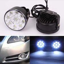 Driving Best Quality Round 9 LED DRL Daytime Running Light Head Light Fog Lamp