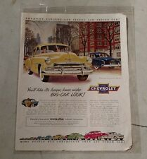 Vintage 1951 Chevrolet Automobile Paper Advertisement
