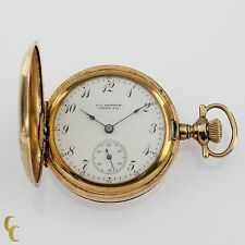 Gold Filled Women's Elgin Full Hunter Pocket Watch 7 Jewel Size 0S 1908