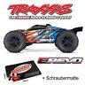 Traxxas E-Revo sin Escobillas Monster Truck TRX86086-4 Naranja Azul +
