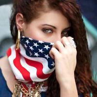 Women Men American Stars And Stripes USA Flag Bandana s C Band Unisex Hair D0U1
